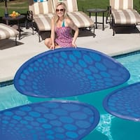"65.5"" Blue Weather-Resistant Twist-and-Fold Inflatable Thermaspring Solar Mat"