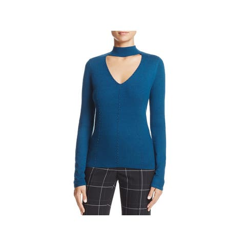 T Tahari Womens Rodena Pullover Sweater Beaded Choker