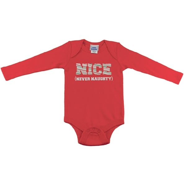 Reflectionz Baby Boys Red Lettering Long Sleeved Snap Closure Bodysuit