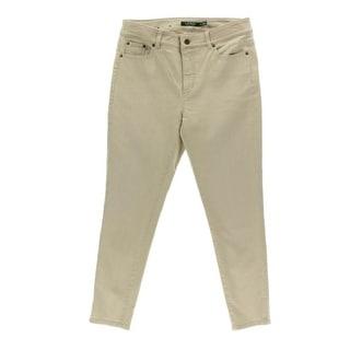 Lauren Ralph Lauren NEW Beige Womens Size 16 Skinny Ankle Denim Jeans