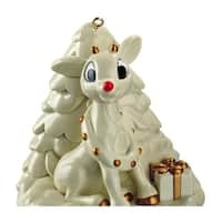 Carlton Cards Heirloom Rudolph The Red-Nosed Reindeer Glass Christmas Ornament - WHITE