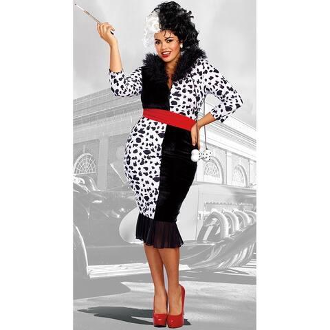 Plus Size Dalmatian Diva Costume - Black/White
