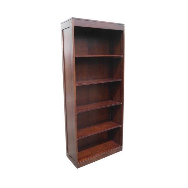 Offex Handmade Bellevue Kiln Dried Mahogany Tall Open Front Bookcase