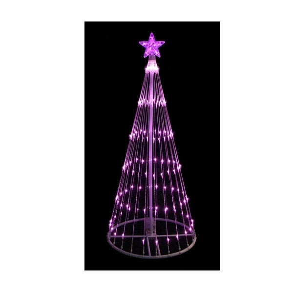 4 Pink Led Lighted Show Cone Christmas Tree Outdoor Decoration Free Shipping Today 25611428