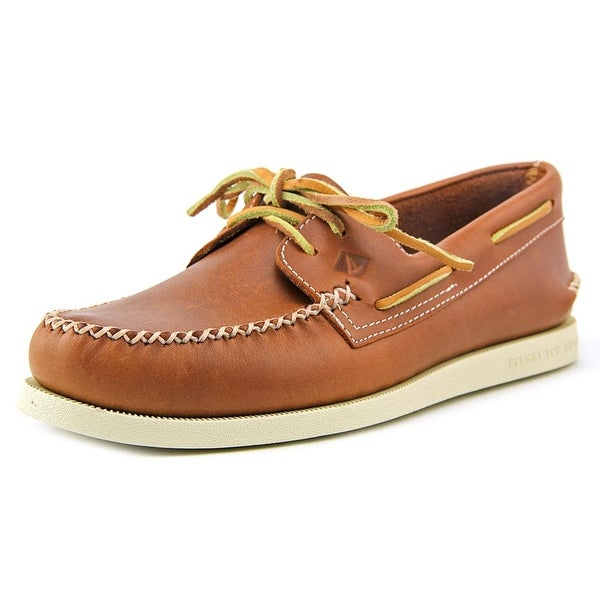 Sperry Top Sider A/O 2-Eye Wedge Leather Moc Toe Leather Boat Shoe