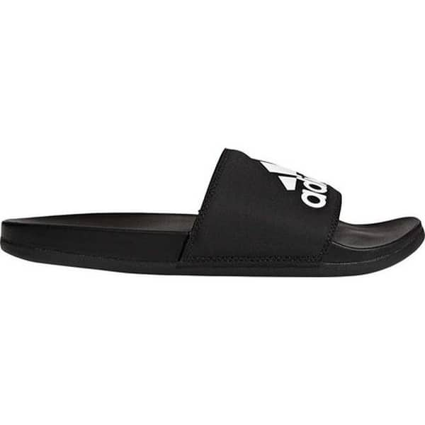 59fea3a8c51 adidas Men s Adilette Cloudfoam Plus Logo Slide Black Black White ...