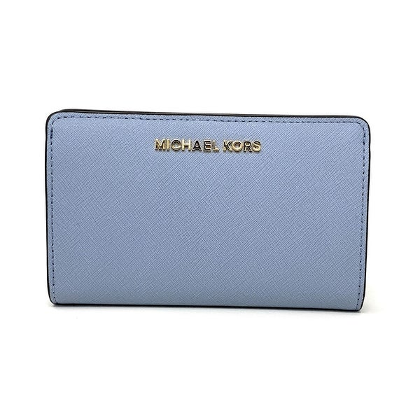 8ce4eace1978 Shop Michael Kors Jet Set Travel Slim Bifold Saffinao Leather Wallet ...