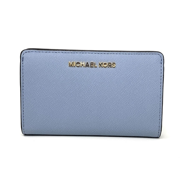aa7b4343c347 Shop Michael Kors Jet Set Travel Slim Bifold Saffinao Leather Wallet ...