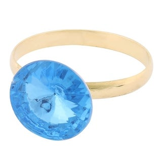 Metal Rhinestone Decor Dinner Napkin Serviette Tissue Holder Ring Hoop Blue