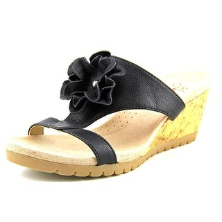 Life Stride Notice Open Toe Synthetic Wedge Sandal