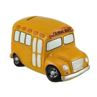 Yellow School Bus Coin Bank Car Piggy Bank