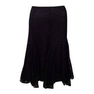 Lauren Ralph Lauren Women's Striped Ruffled Chiffon Skirt
