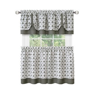 Link to Callie Window Curtain Tier Pair and Valance Set Similar Items in Window Treatments