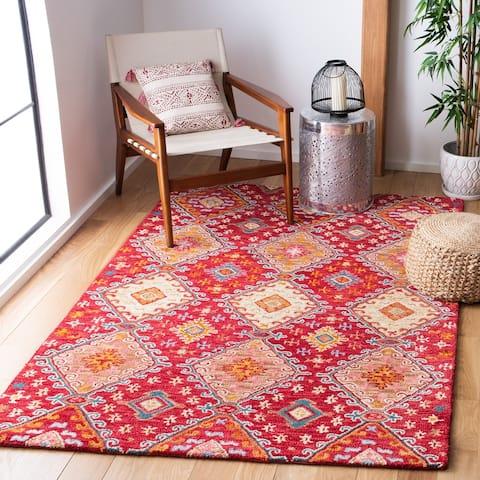 SAFAVIEH Handmade Aspen Reveka Moroccan Boho Wool Rug