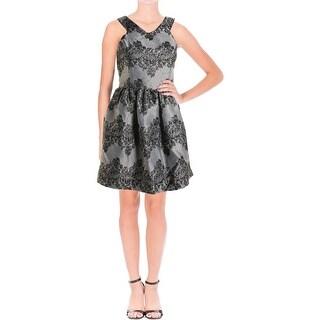 Aqua Womens Metallic Prom Cocktail Dress