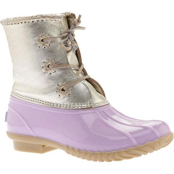 170130ec181 Shop Jack Rogers Women's Chloe Duck Boot Lilac Metallic Leather ...