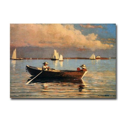 Gloucester Harbor by Winslow Homer Gallery Wrapped Canvas Giclee Art (24 in x 36 in)