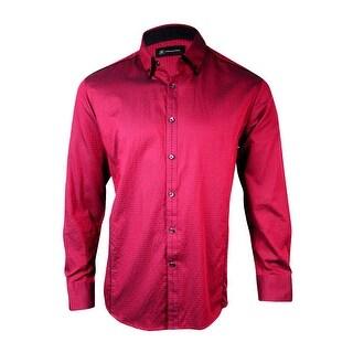 INC International Concepts Men's Dobby Diamond Dress Shirt - L