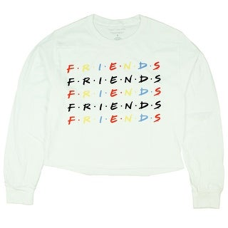 Link to Friends TV Series Junior's Friends Text Repeat Crop Long Sleeve T-Shirt Similar Items in Tops