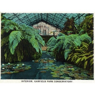 Shop Chicago Illinois Scenic Interior View Of Garfield Park Conservatory Art Print Multiple Sizes Available 9 X 12 Art Print Overstock 27908856