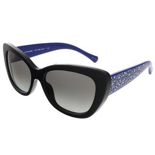 Coach HC8143B 528211 Black/Blue Cat Eye sunglasses