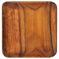"""Pacific Merchants Acaciaware K0051 Acacia Wood Square Plate, 7"""""""