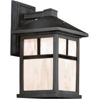 Forte Lighting 17020-01 Energy Efficient Craftsman / Mission Outdoor Wall Sconce