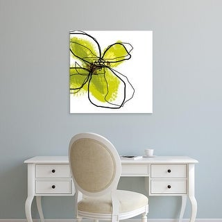 Easy Art Prints Jan Weiss's 'Green Petals' Premium Canvas Art