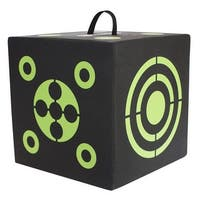 6-Sided 3D Cube Reusable Archery Target With Arrow Puller Constructed with Rapid Self Healing XPE Foam for all Arrow Types