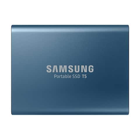 Samsung T5 500GB USB 3.1 Pocket Size Portable External SSD (Blue)