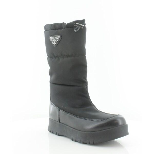 Prada Nylon Gabardin Women's Boots Nero