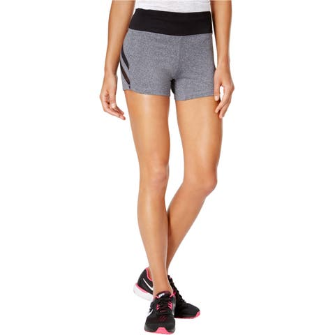 Material Girl Womens Mesh Insert Athletic Compression Shorts
