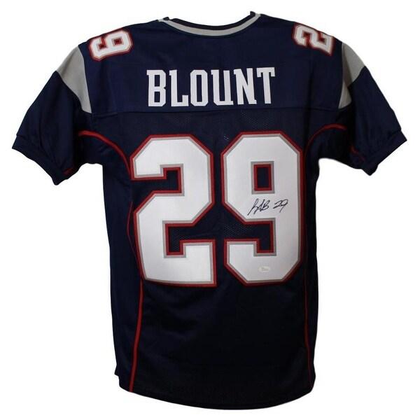 Shop LeGarrette Blount Autographed New England Patriots Blue XL Jersey JSA  - Free Shipping Today - Overstock - 21870511 9c3e342e8