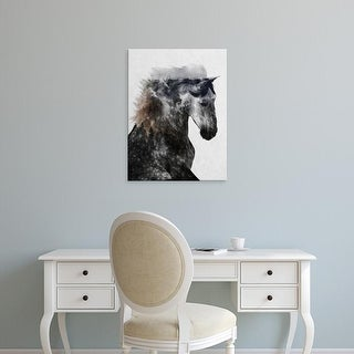 Easy Art Prints Andreas Lie's 'Proud Stallion' Premium Canvas Art