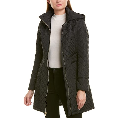 Via Spiga Diamond Quilted Coat