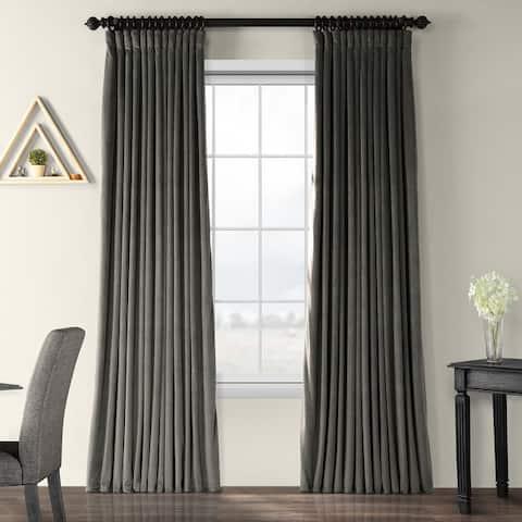 Exclusive Fabrics Signature Extrawide Blackout Velvet Curtain Panel