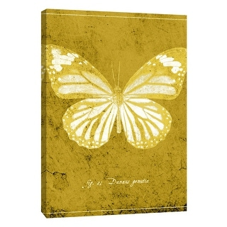 "PTM Images 9-108435  PTM Canvas Collection 10"" x 8"" - ""Butterfly J"" Giclee Butterflies Art Print on Canvas"