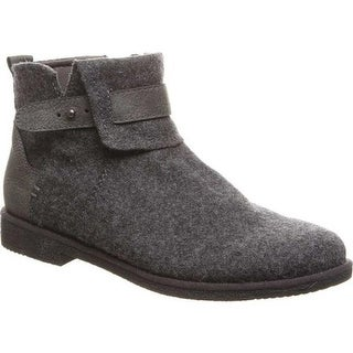 Bearpaw Women's Solstice Ankle Boot Charcoal Cow Suede/Faux Leather
