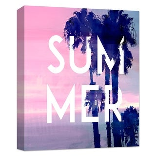 """PTM Images 9-124845  PTM Canvas Collection 10"""" x 8"""" - """"Summer"""" Giclee Palm Trees Art Print on Canvas"""