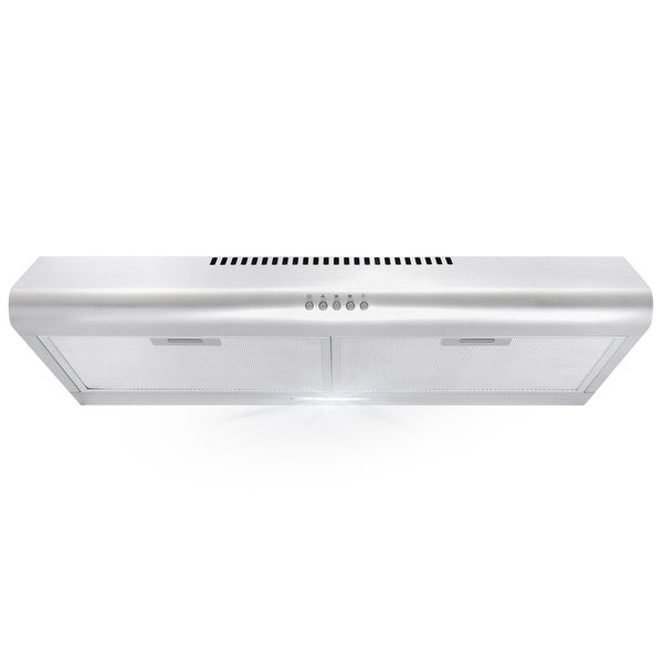30 in. Ducted Under Cabinet Range Hood with 3-Speed Fan, Push Buttons