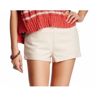 Free People NEW Beige Peach Women's Size 6 Seamed Textured Shorts