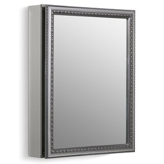 """Kohler K-CB-CLW2026SS 20"""" x 26"""" Single Door Reversible Hinge Framed Mirrored Medicine Cabinet with Silver Finish"""