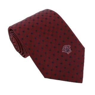 Versace Bordeaux Woven Square Grid Tie