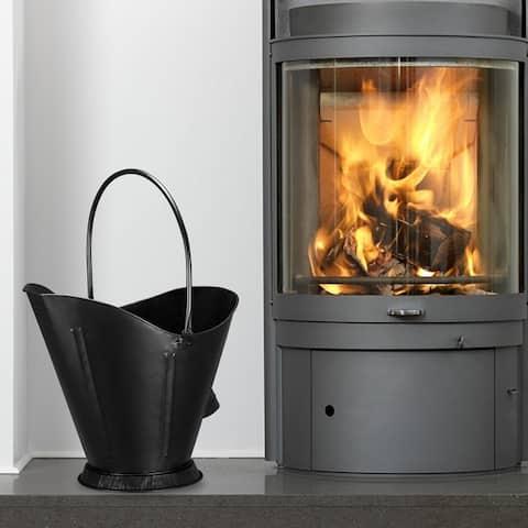 Artisasset Black Duckbill-Shaped Iron Ash Bucket Indoor Fireplace Tool