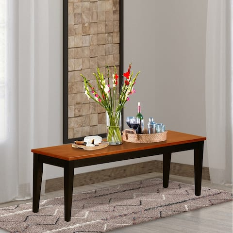 Nicoli Wooden Seat Dining Bench - (Finish Option Available)