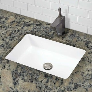 "DecoLav 1482 Classically Redefined 17-1/2"" Rectangular Undermount Vitreous China Lavatory Sink with Overflow"