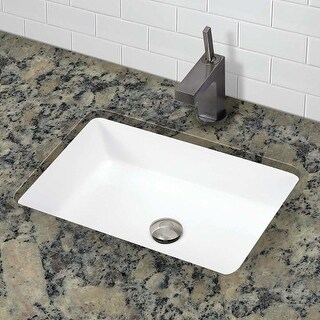 """DecoLav 1482 Classically Redefined 17-1/2"""" Rectangular Undermount Vitreous China Lavatory Sink with Overflow"""