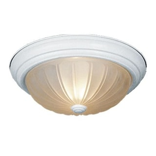 Vaxcel Lighting CC1751 2 Light Flush Mount Indoor Ceiling Fixture with Frosted Glass Shade - 11 Inches Wide