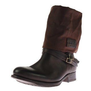 Australia Luxe Womens Latched Mid-Calf Boots Leather Belted