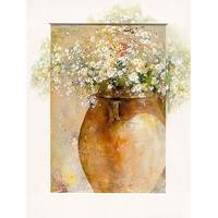 ''Flowers in a Pot I'' by Willem Haenraets Floral Art Print (31.5 x 23.5 in.)